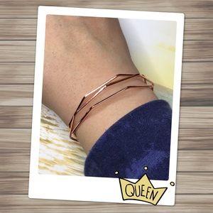 Rose Gold Plated Geometric Bracelet